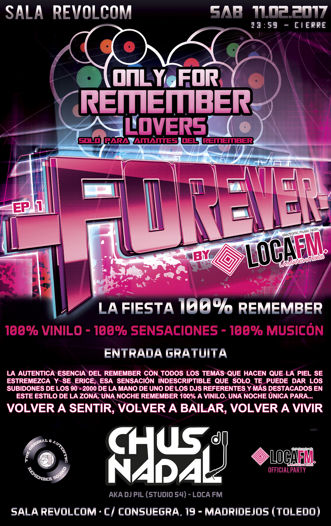 Fiesta remember locafm flyer forever